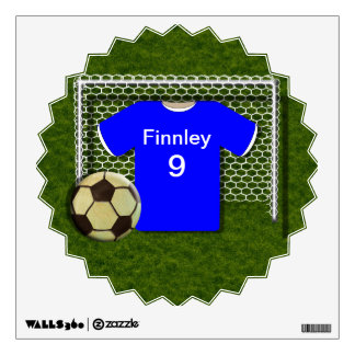 Soccer Football Theme Personalized Wall Decal