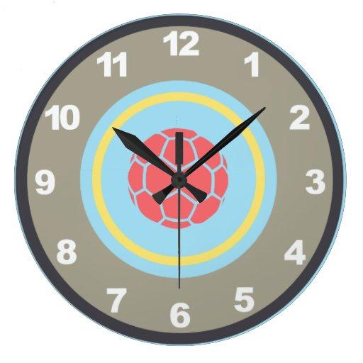 Football Design Wall Clock : Soccer football wall clock zazzle