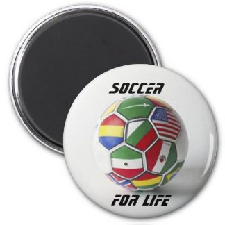 soccer for life global flag magnet