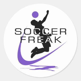 Soccer Freak - Boys - Purple Classic Round Sticker
