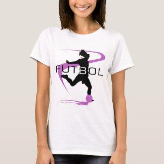 Soccer Futbol Pink Girls T-Shirt