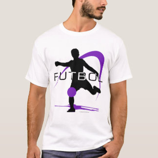 Soccer Futbol Purple T-Shirt