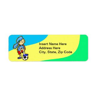 Soccer Game Return Address Label