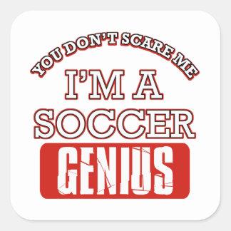 soccer genius square sticker