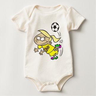 SOCCER GIRL AUTISM RIBBON BABY CREEPER