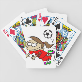SOCCER GIRL AUTISM RIBBON BICYCLE PLAYING CARDS