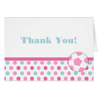 Soccer Girl Birthday Thank You Notes