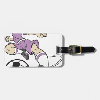 SOCCER GIRL BRUNETTE LUGGAGE TAG