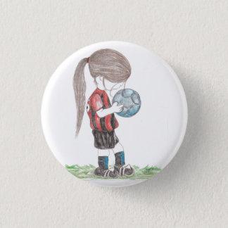Soccer Girl Button
