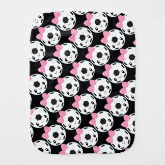 Soccer Girl Emoji Burp Cloth