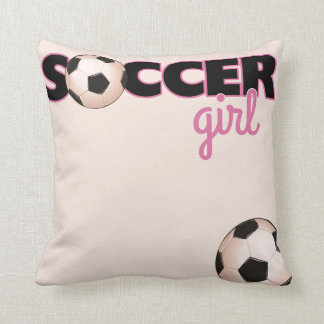 Soccer Girl Throw Pillows