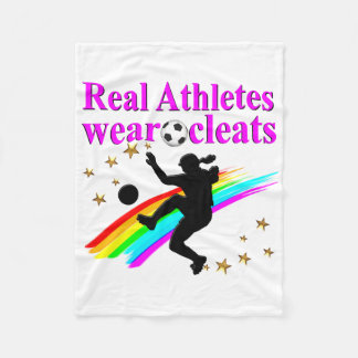 SOCCER GIRLS RULE THE WORLD FLEECE BLANKET