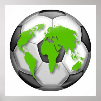 Soccer Globe Poster