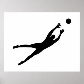 Soccer goalkeeper posters