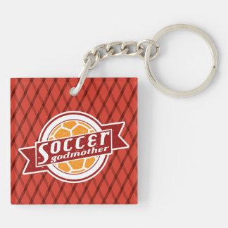 Soccer Godmother Keyring Double-Sided Square Acrylic Keychain