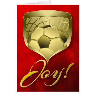 Soccer Gold Shield with Word Joy Card