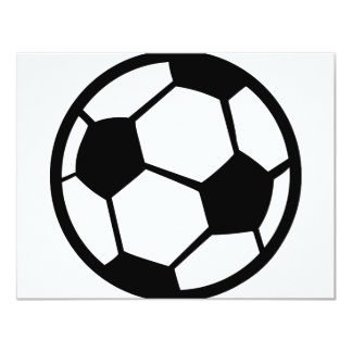 """soccer icon 4.25"""" x 5.5"""" invitation card"""
