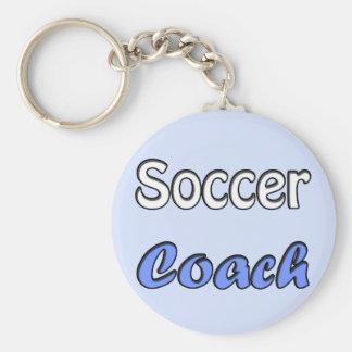 Soccer instruis porte-clé rond