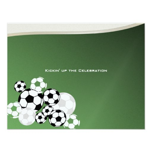 Soccer Invitational Bar Mitzvah Personalized Announcements