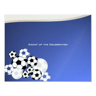 "Soccer Invitational Bar Mitzvah 4.25"" X 5.5"" Invitation Card"