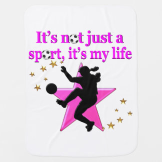 SOCCER IS MY LIFE SWADDLE BLANKET