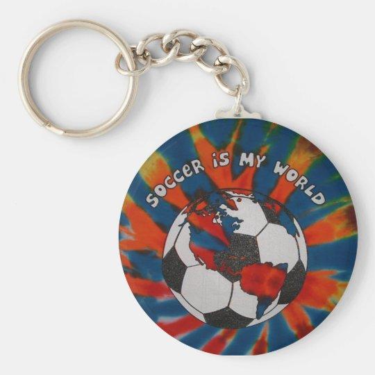 Soccer is my World Basic Round Button Keychain