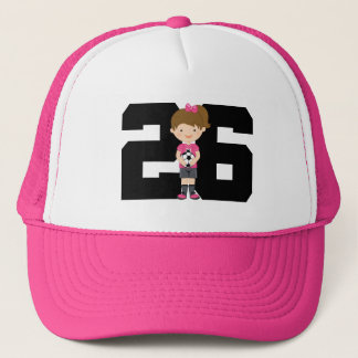 Soccer Jersey Number 26 (Girls) Gift Trucker Hat