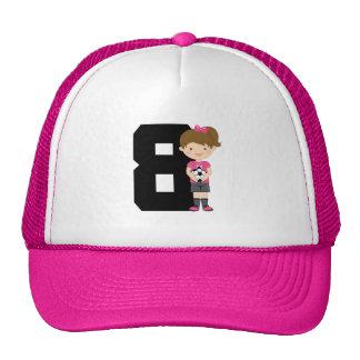 Soccer Jersey Number 8 (Girls) Gift Trucker Hat