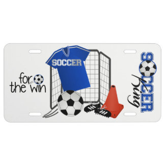 Soccer King license plate