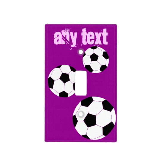 Soccer Light Switch Cover: Purple Personalized