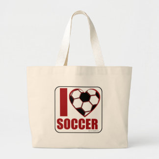 Soccer Love Large Tote Bag