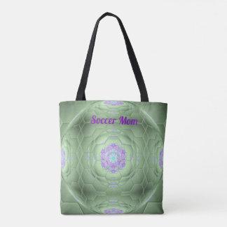 Soccer Mom Artistic Ball Pattern Tote Bag
