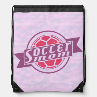 Soccer Mom Drawstring Backpack Sack Bag