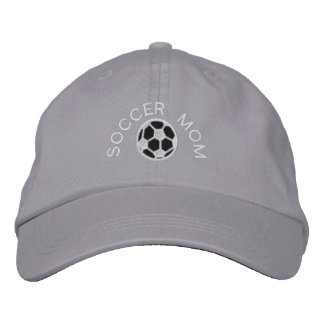 SOCCER MOM EMBROIDERED HAT