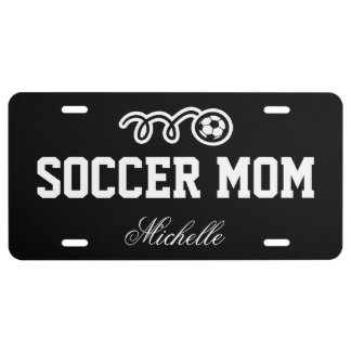 Soccer mom license plate | custom name and colors
