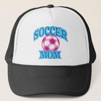SOCCER MOM ON WHITE SHIRT 1 TRUCKER HAT