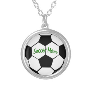 Soccer Mom Silver Plated Necklace