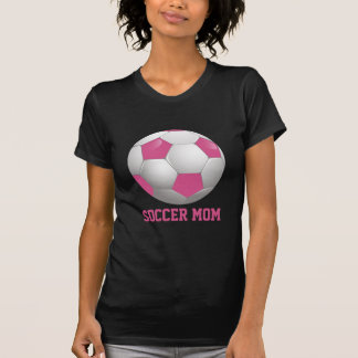 Soccer Mom Soccer Ball Pink and White T-shirts