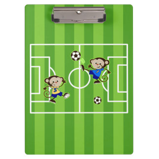Soccer monkeys clipboard