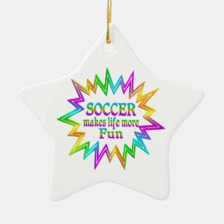 Soccer More Fun Ceramic Ornament