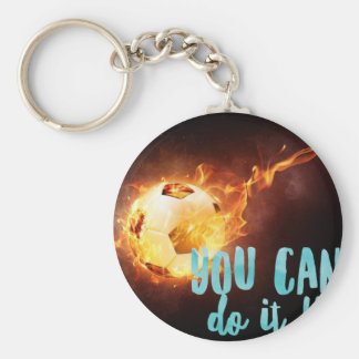 Soccer Motivational Inspirational Success Basic Round Button Keychain