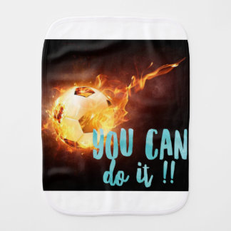 Soccer Motivational Inspirational Success Burp Cloth