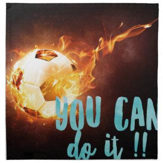 Soccer Motivational Inspirational Success Napkin