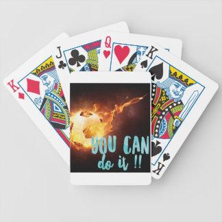 Soccer Motivational Inspirational Success Poker Deck