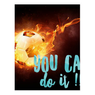 Soccer Motivational Inspirational Success Postcard