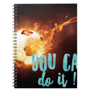 Soccer Motivational Inspirational Success Spiral Notebook