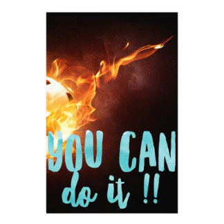 Soccer Motivational Inspirational Success Stationery