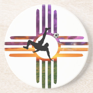 Soccer New Mexico Drink Coaster
