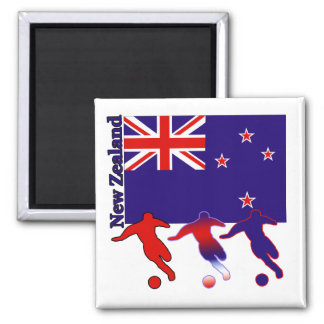Soccer New Zealand Magnet
