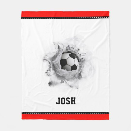 Soccer Novelty Fleece Blanket